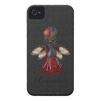 Flor gótico bonito Blackberry feericamente Capinha iPhone 4