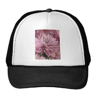 Flor listrada cor-de-rosa boné