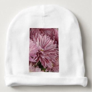 Flor listrada cor-de-rosa gorro para bebê