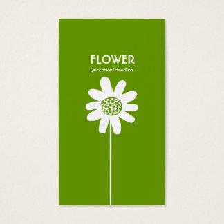 Flor longa VI da haste - verde do abacate Cartão De Visitas