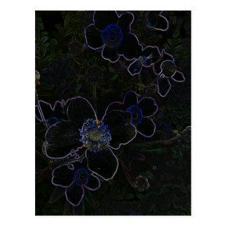 Flor mágica cartoes postais
