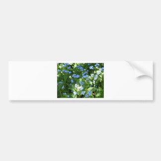 flor, miosótis adesivo para carro