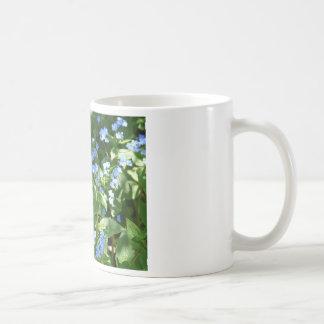 flor, miosótis caneca
