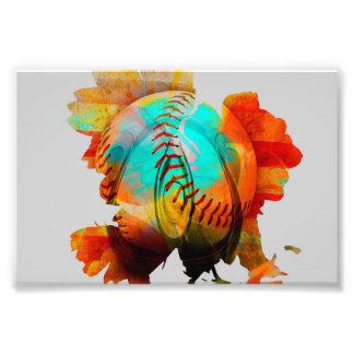 Flor misturada esférica, foto energizada! impressão de foto