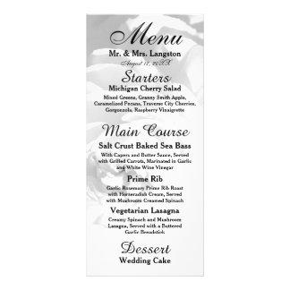 Flor moderna do crisântemo/peônia - menu da 10.16 x 22.86cm panfleto