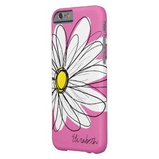 Flor na moda da margarida com nome - amarelo capa barely there para iPhone 6