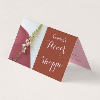 Flor no cartão do Dobrar-Negócio do envelope