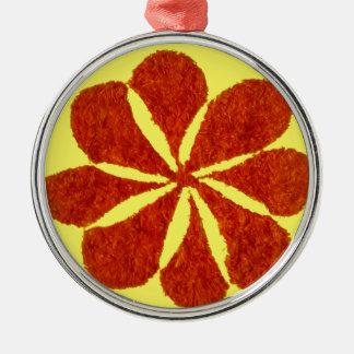 flor no vermelho ornamento de metal