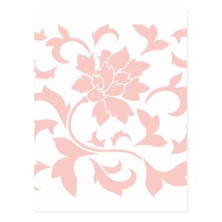 Flor oriental - quartzo cor-de-rosa cartão postal