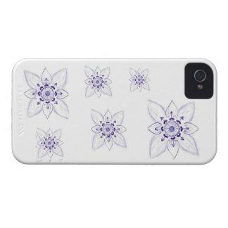 Flor original do esboço, caixa da amora-preta capinha iPhone 4