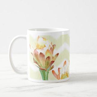 flor & orquídea do cacto caneca de café