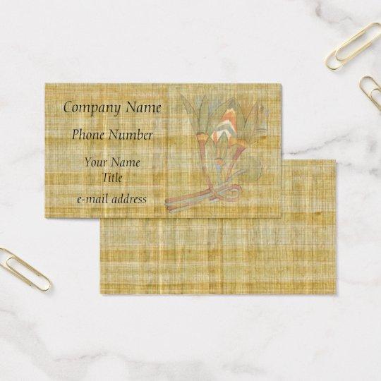 Flor-Papiro de Lotus do egípcio Cartão De Visitas