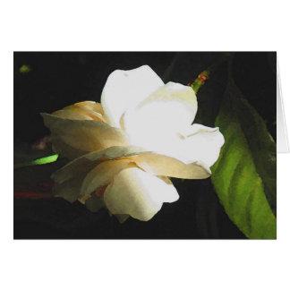 Flor perfumada Wedding do Gardenia do marfim Cartão Comemorativo