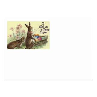 Flor pintada colorida coelhinho da Páscoa do ovo Cartão De Visita Grande