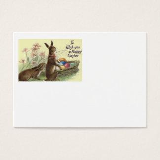 Flor pintada colorida coelhinho da Páscoa do ovo Cartão De Visitas