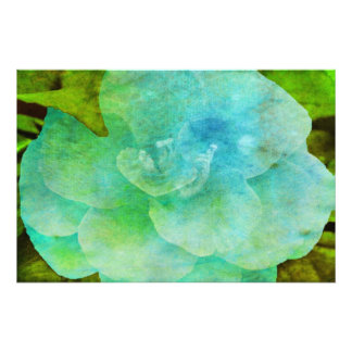 Flor pintada impressão fotográficas