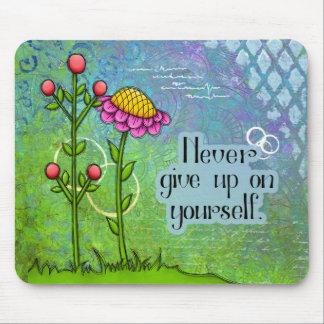 Flor positiva adorável Mousepad do Doodle do