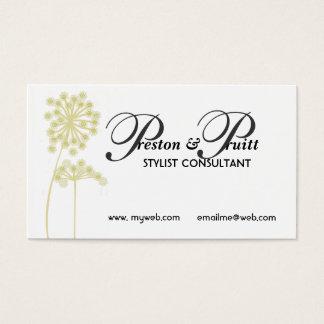 Flor profissional perita moderna do consultante da cartão de visitas