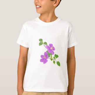 Flor roxa da grama camiseta