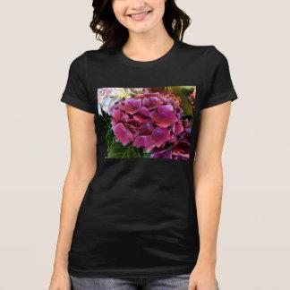 Flor roxa do Hydrangea T-shirts