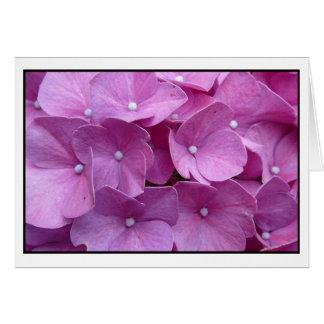 Flor roxa do Hydrangea Cartão Comemorativo