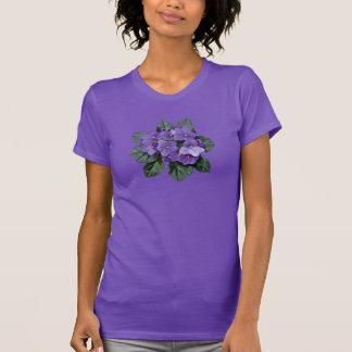Flor roxa do jardim da violeta africana camiseta
