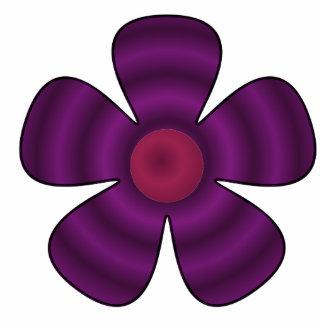 flor roxa escultura de foto