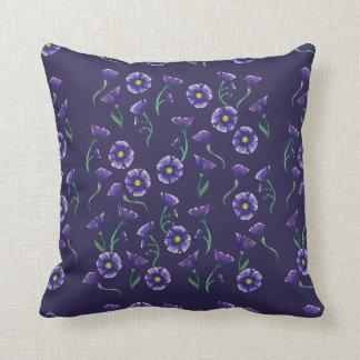 Flor roxa violeta almofada