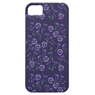 Flor roxa violeta capa barely there para iPhone 5