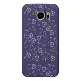 Flor roxa violeta capa para samsung galaxy s6