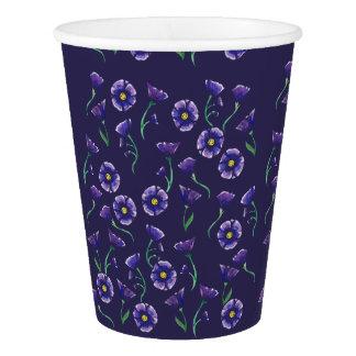 Flor roxa violeta copo de papel