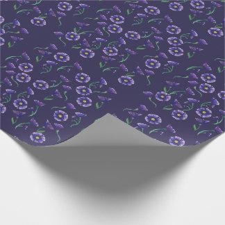 Flor roxa violeta papel de presente