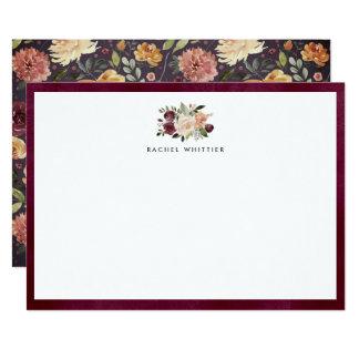 Flor rústica cartão liso personalizado dos artigos