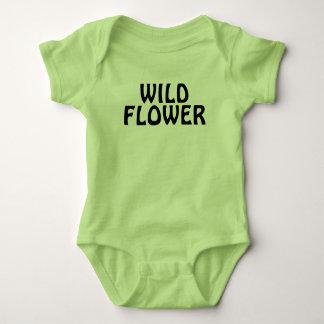 Flor selvagem body para bebê