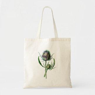 Flor selvagem da antiguidade do cardo do Scottish  Bolsa Tote