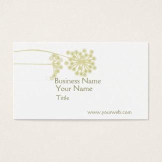 Flor selvagem elegante moderna minimalista cartão de visitas