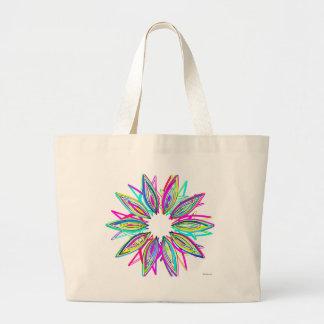 Flor selvagem por Lina 2014 Bolsa Tote Grande