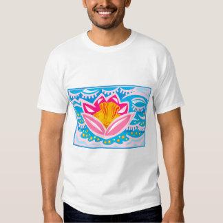 Flor tropical cor-de-rosa camiseta