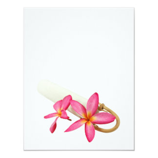 Flor tropical cor-de-rosa | DIY do frangipani do Convite 10.79 X 13.97cm