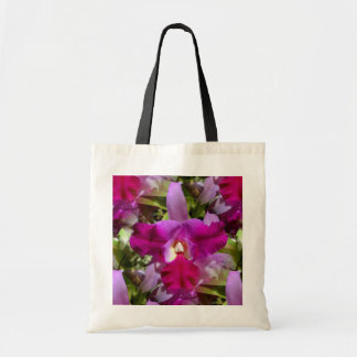 Flor tropical da orquídea de Cattleya Sacola Tote Budget