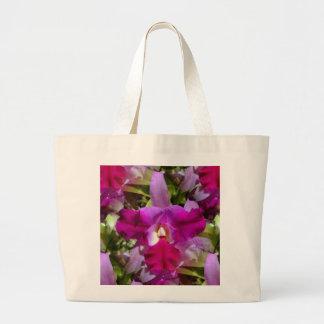 Flor tropical da orquídea de Cattleya Sacola Tote Jumbo