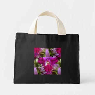 Flor tropical da orquídea de Cattleya Sacola Tote Mini