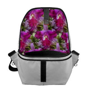 Flor tropical da orquídea de Cattleya Bolsa Mensageiro