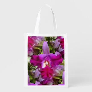 Flor tropical da orquídea de Cattleya Sacola Ecológica