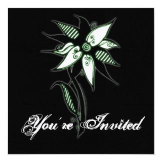 Flor verde & branca preta de Swirly por Naomi