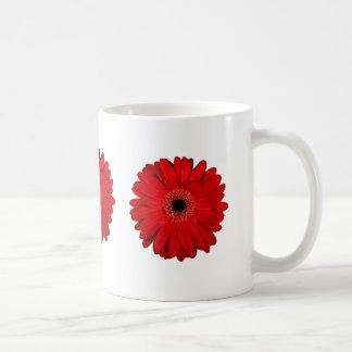 Flor vermelha caneca de café