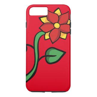 Flor vermelha capa iPhone 7 plus