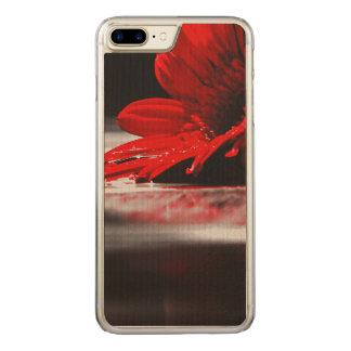 Flor vermelha do Gerbera da margarida Capa iPhone 7 Plus Carved