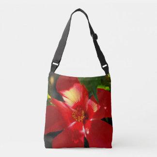 Flor vermelha do hibiscus na luz solar bolsa ajustável