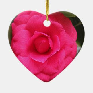 Flor vermelha do japonica Rachele Odero da camélia Ornamento De Cerâmica